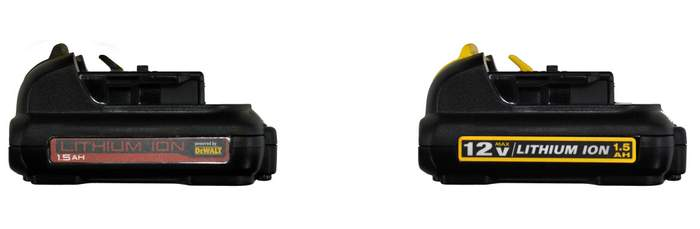 Mac Tools Battery and Dewalt Battery