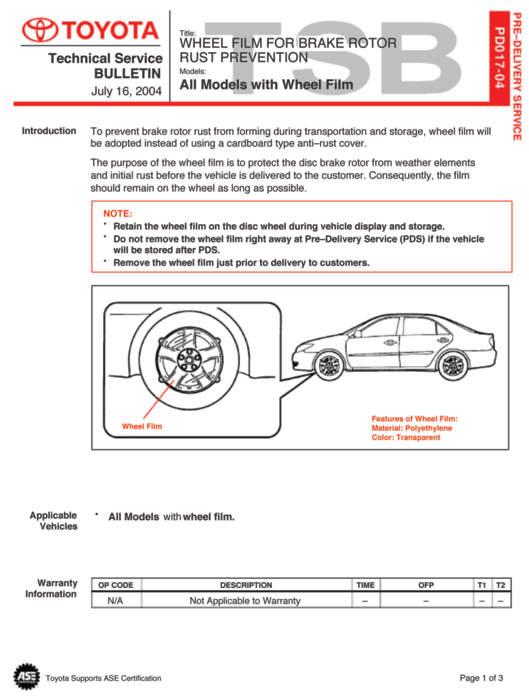 Toyota TSB