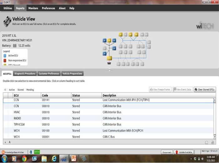 Pulling Codes: U0100 = Lost Communication with ECM/PCM