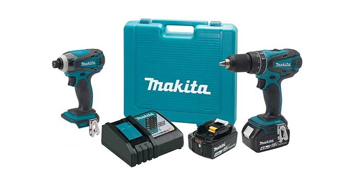 """Makita's XT211MB kit includes a variable two-speed 1/2"""" Hammer Driver-Drill (0-400 and 0-1,500 rpm) with Makita-built 4-pole motor, which delivers 480 in.-lbs. of max torque."""
