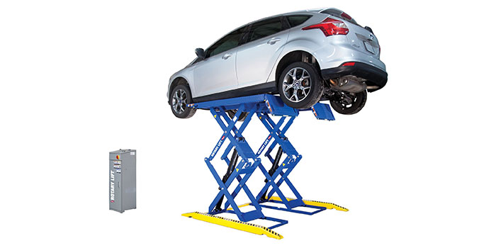 Smooth scissor lift offers productivity, reliability and easy operation in a small footprint