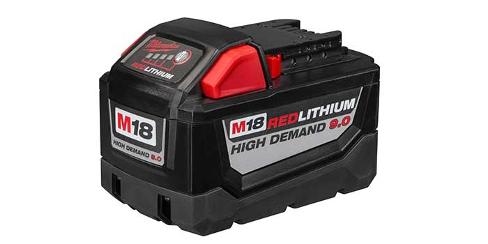 Milwaukee has introduced its M18 REDLITHIUM HIGH DEMAND 9.0 Battery Pack.