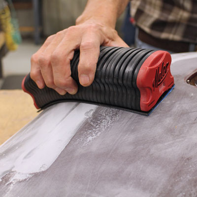 Malco Sanding Block Holds Hand Pressed Contours