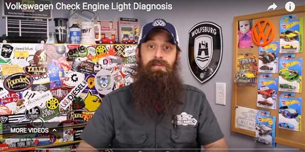 Charles Sanville video on VW Check Engine Light Diagnostics