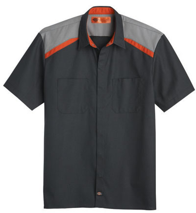 The new Tricolor Ripstop Automotive Shirt featuring team color contrasts and scratch-resistant details for vehicle protection