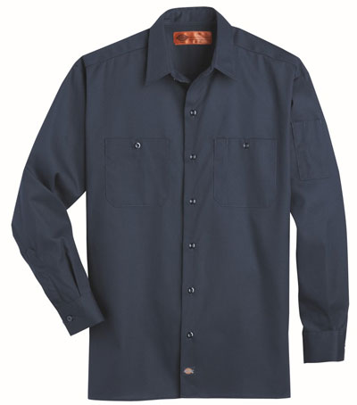 The Solid Ripstop Work Shirt featuring lightweight comfort that doesn't compromise durability. Specialty pockets include two chest pockets and a pencil pocket on the left arm.