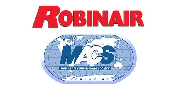 Robinair logo MACS logo