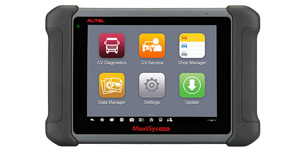 Autel announces its MaxiSYS MS906CV complete service tablet for HD service plus all systems diagnostics.