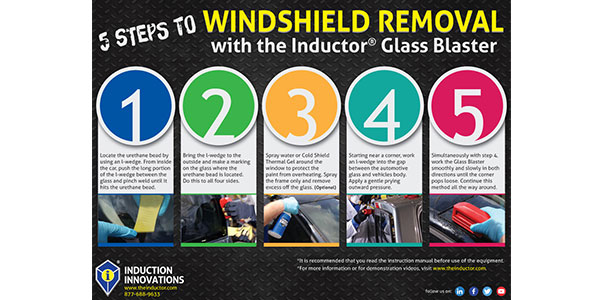Induction Innovations windshield removal