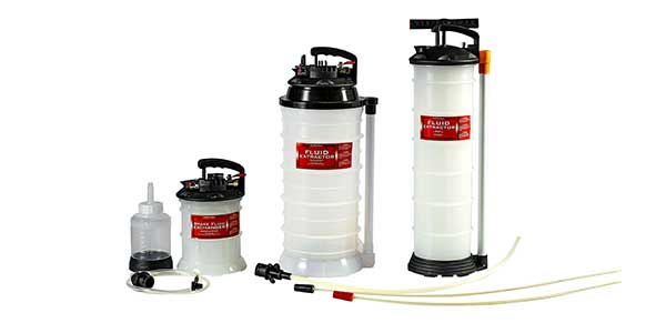The easy-to-use extractors are designed to remove fluids through filler ports and dipstick tubes.