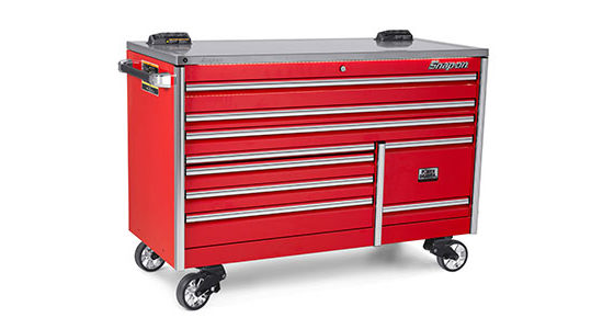 Snap-on KETP682A2PBO 68-in. 9-Drawer Double Bank EPIQ Series Stainless Steel PowerTop with LED Light