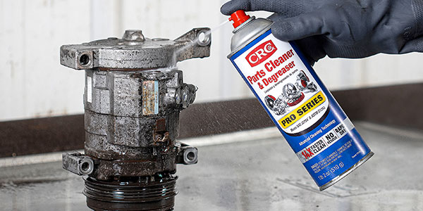 New CRC Parts Cleaner & Degreaser Pro Series removes the toughest oil, dirt, grease, and varnish up to 14X faster than other multi-purpose cleaners and degreasers.